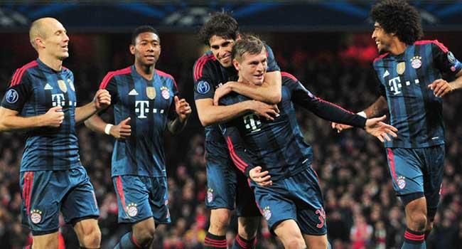 Bayern Munich Hammer Arsenal In Champions League Clash
