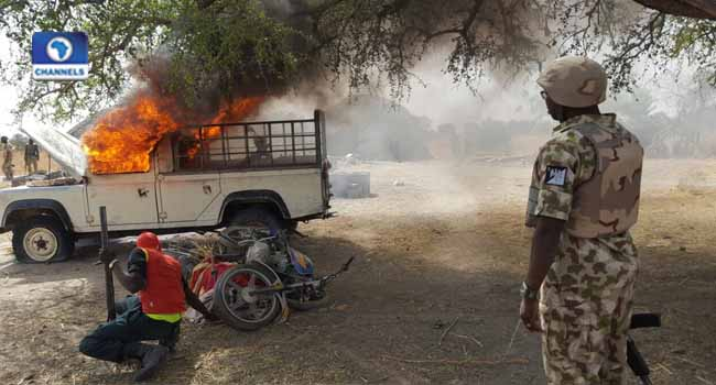 Troops Destroy Boko Haram Logistics Base Settlements In Borno