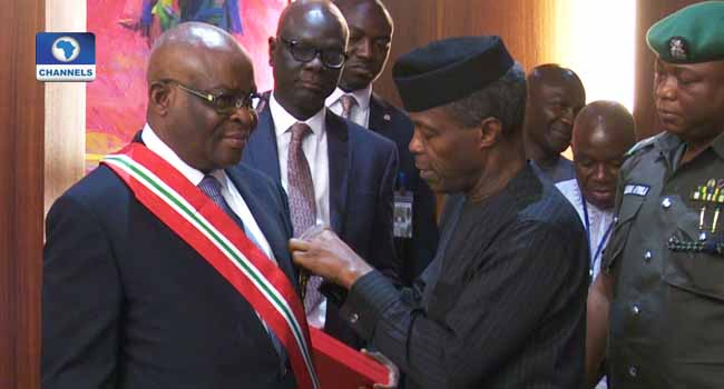 Walter Onnoghen Sworn-In As Chief Justice Of Nigeria