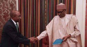 Emefiele Briefs President Buhari On Economy