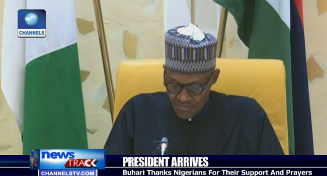 Buhari Thanks Nigerians For Their Support And Prayers