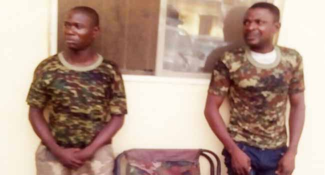 Ogun Police Arrest Two Suspected Fake Soldiers