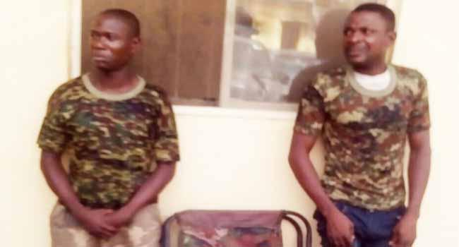 Ogun Police Arrest Two Suspected Fake Soldiers
