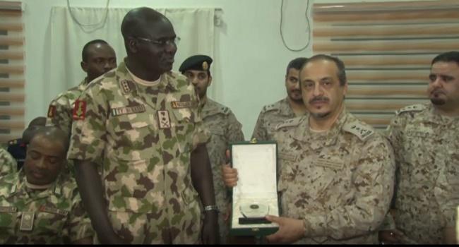 Secretary General of the IMCTC Lieutenant General Abdulelah Alsaleh and Chief of Army Staff Lieutenant General Tukur Burutai