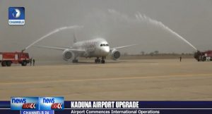 Ethiopian Airline lands At the Kaduna Airport