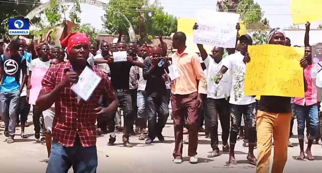 SDP Supporters Protest Over Michika Local Government Election