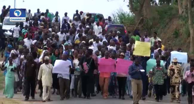 CAC Workers Protest Over Non-Payment Of Salaries