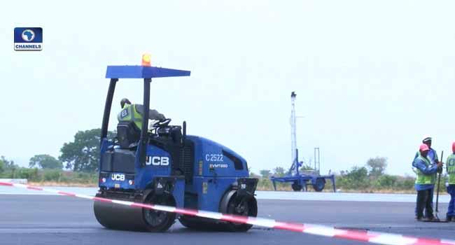 runway under construction