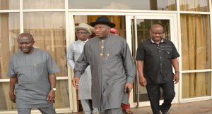 Former president, Goodluck Jonathan and Nyesom Wike in Port Harcourt