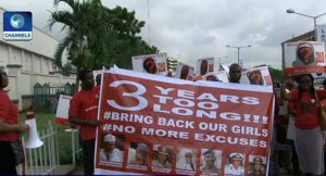 BBOG Continues March For Chibok Girls' Release In Abuja, Lagos