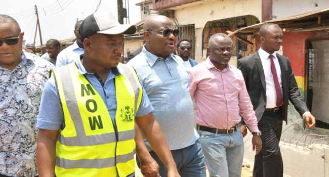 Wike Inspects Road Projects In Rivers State