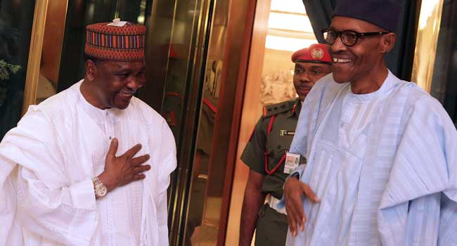 Gowon Visits President Buhari At The Villa