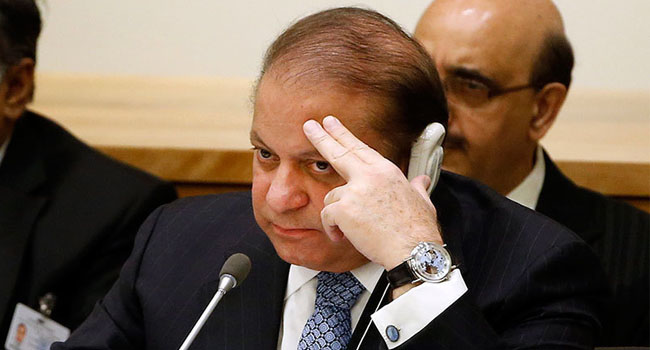 Pakistani Ex-Leader Sharif Sentenced To Seven Years In Prison For Graft