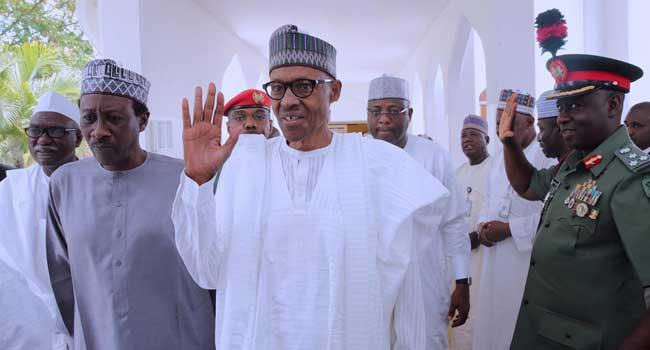 President Buhari Attends Jummat In Abuja