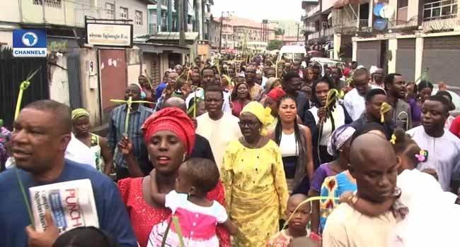 Palm Sunday: Christians In Anambra Pray For Nigeria