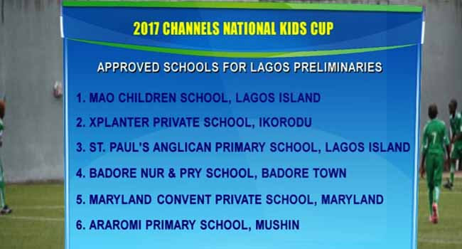 Channels Kids Cup: 32 Schools Cleared For Lagos Preliminaries