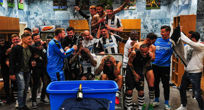 Newcastle United Celebrate Return To EPL
