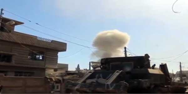 Bulldozer Stops Suicide Car Bomb In Mosul
