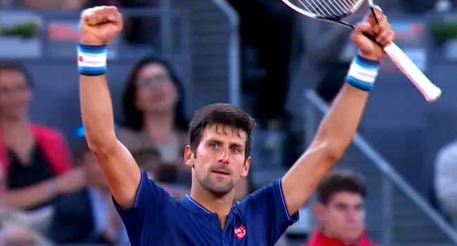 Djokovic Races to Third Round in 90 Minutes