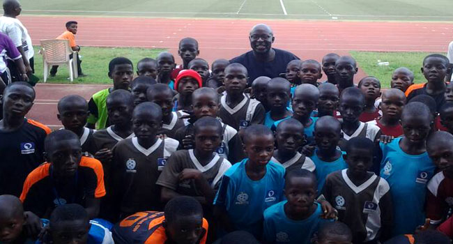NFF's VP, Akinwunmi Motivates Players At Channels Kids Cup