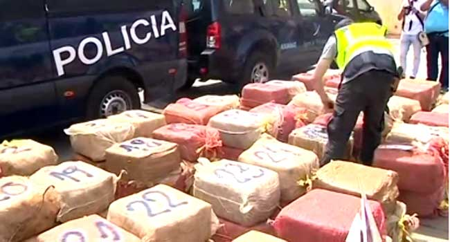 Spanish Police Seizes Over Two Tons Of Cocaine From Ship