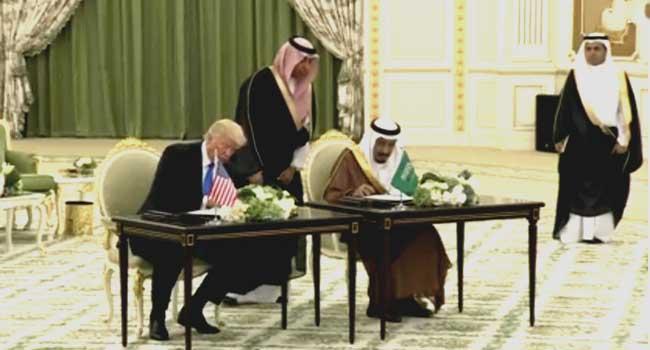 U.S., Saudi Sign Deals Worth $110bn As Trump Visits