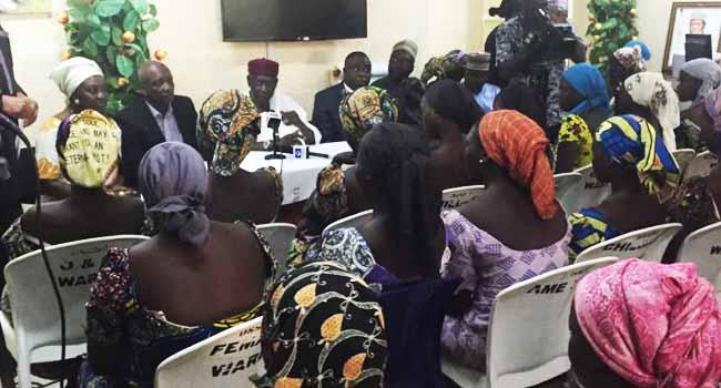 PHOTOS: 82 Released Chibok Girls Arrive Abuja