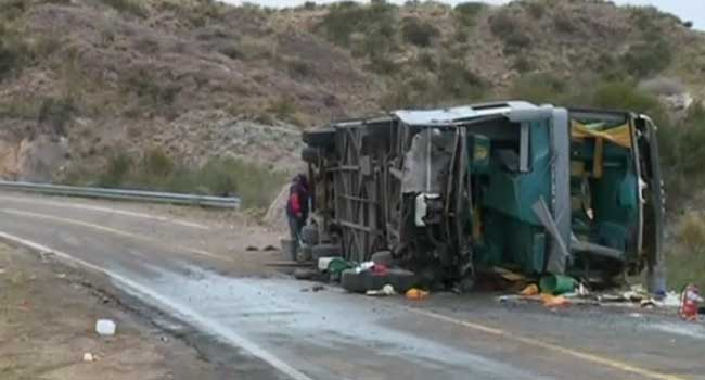 Image result for At least 15 killed as bus crashes in Mendoza, Argentina