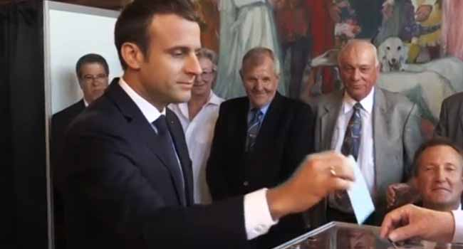 French President Macron Votes In Second Round Of Parliamentary Election
