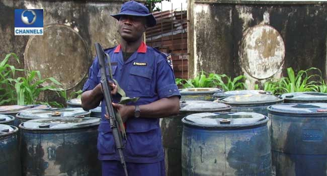 NSCDC Nabs Suspected Oil Thieves, Impounds 100 Diesel Tankers