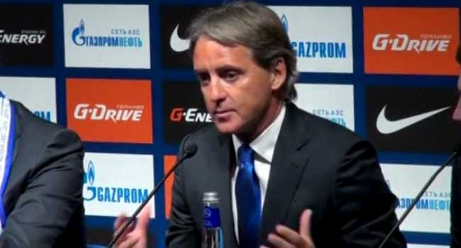Zenit St Petersburg Unveil Roberto Mancini As New Coach