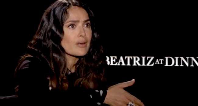 "Salma Hayek Displays Empathy In New Movie ""Beatriz at Dinner"""