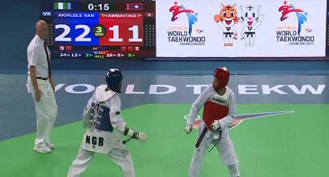 Akhilele Crashes Out Of World Taekwondo Championships