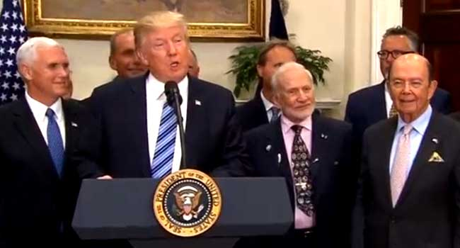 Trump Signs Executive Order To Revive National Space Council