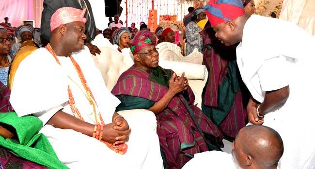 PHOTOS: Obasanjo, Ooni, Dignitaries Grace Amosun's Daughter's Wedding