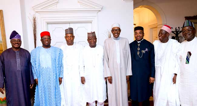 Image result for buhari in london with governors