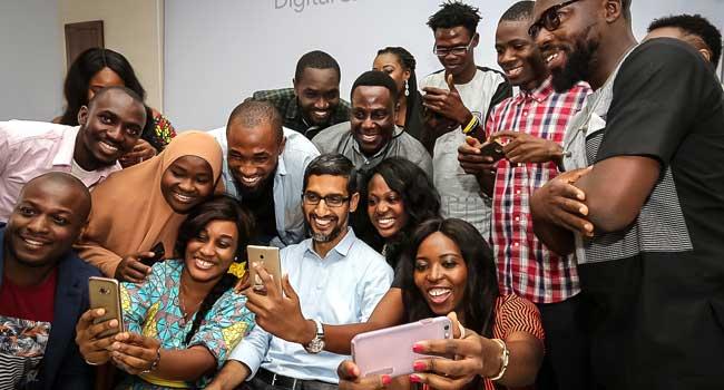 [PHOTOS] Google CEO, Sundar Pichai, Visits Lagos