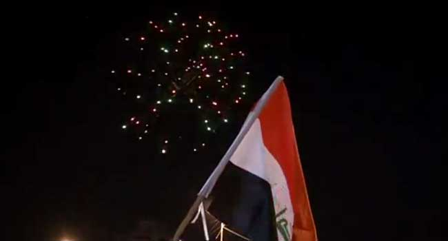 Iraqis Celebrate Victory Over Islamic State On Baghdad Streets