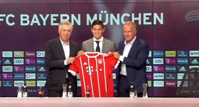 Bayern Welcome James Rodriguez On Loan