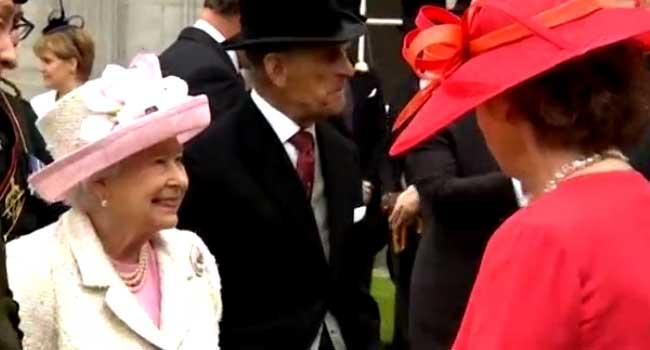 Queen Elizabeth, Duke Of Edinburgh Hold Garden Party