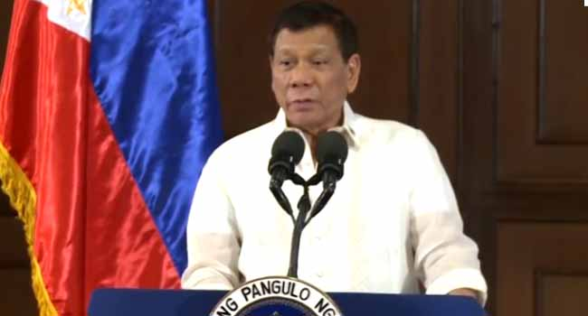 Philippines' Duterte Under Fire For Saying He 'Touched' Maid