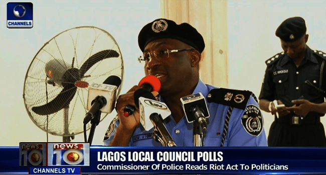 Lagos LG Election: Police Warn Politicians, Residents Against Violence