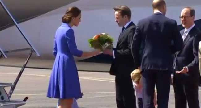 Britain's Prince William And Wife Kate Arrive In Germany