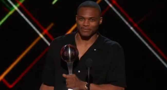 Simone Biles,Russell Westbrook Take Top Prizes At The ESPYS