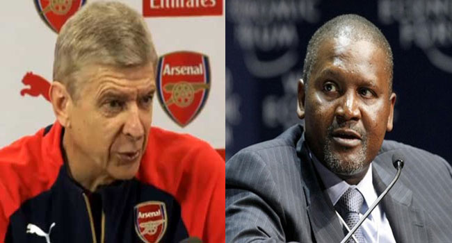 Dangote Plans To Buy Arsenal, Sack Wenger – Report