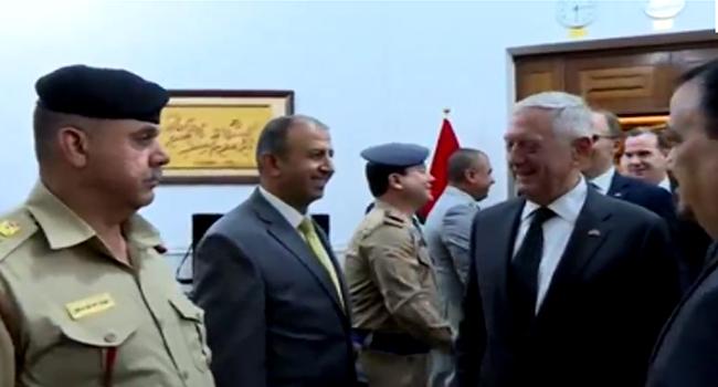 U.S. Defense Secretary Meets His Iraqi Counterpart In Baghdad