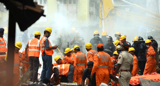 Three Dead, Dozens Feared Trapped In Mumbai Building Collapse