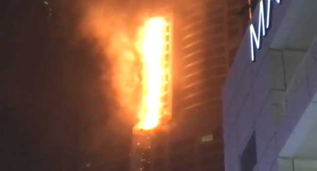 Fire At Residential Tower In UAE Put Out