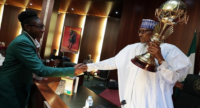 President Buhari Receives Victorious D'Tigress, Gifts Each Player N1m