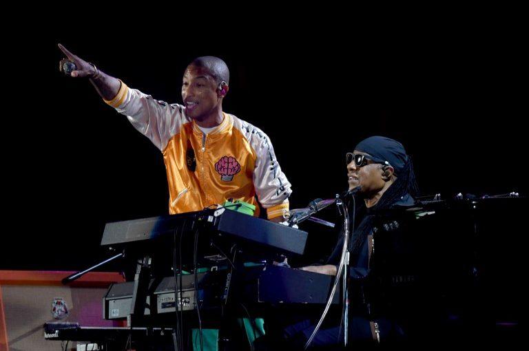 Stevie Wonder, Pharrell Williams Perform At Global Citizen Festival